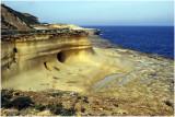 Marsalforn,limestone beach