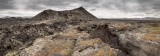 Volcanic crater landscape