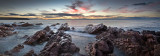 Kangaroo Island sunset long exposure pano