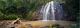 Waterfall and stump pano