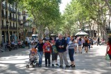 just arrived in La Rambla