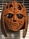 Replica of the Sutton Hoo helmet from viking ship burial.jpg
