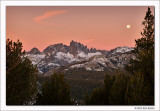 Twilight Moon and Minarets, Inyo National Forest, California, 2011