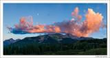 Twilight Moon, Snowdon Peak, Weminuche Wilderness, Colorado, 2012