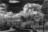 View down Cascades Parkway toward Algonkian Park