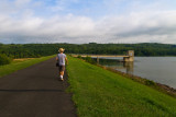 James Crossing the Dam at Lake Galena