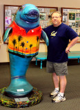 Alan and friendly manatee