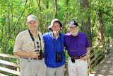 My uncle (right) with two Audobon/park volunteer buddies