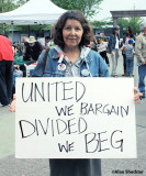 United we bargain. Divided we beg.