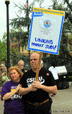 California State University Employees Union supporters