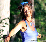 Jacia dancing to the music