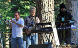 Jeff Daub (left) adds horn component to King Hopeton's set
