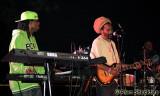 Prezident Brown's keyboardist Ryan Daisley, guitarist Tuff Lion, and drummer Nelson Miller