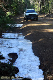 Patches of snow on June 26 on the Skyway between Inskip and Butte Meadows