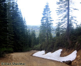 Patches of snow on June 26 along Humboldt Road in Butte County, at about 5,500 feet