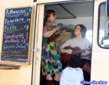 CJ and Lauren Alegre sing from an Italian food truck