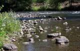 Butte Creek by the Honey Run Covered Bridge