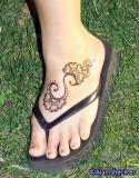 Henna on the foot