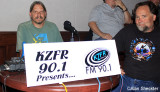 KZFR, Chico's community radio station broadcasting live, with Bill DeBlonk at the helm