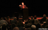 Michael Parenti and the Big Room audience