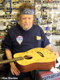 David Nelson, after signing guitar for KZFR raffle