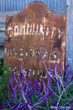 Old sign in Harmony: Community Missionary Baptist Church