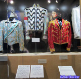 Some of Michael Jackson's Grammy costumes, and the hand-written lyrics to Beat It