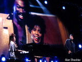 Valerie Simpson and Usher perform In Memoriam segment for the late Nick Ashford and Jerry Lieber. Mike Stoller was also onstage