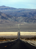 Highway 190, heading out of the Panamint Mountains