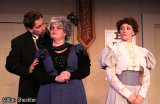 William Petree as Dr. Hercule Molineaux, Teresa Hurley as Madame Aigreville, Marchia Ryborz as Yvonne Molineaux