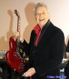 Ray Manzarek-signed guitar for KZFR radio raffle