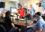 Mickey Hart, Sanjay, DJ/tech guy Bill DeBlonk and station GM Rick Anderson