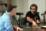 Mickey Hart makes a point, with Rick Anderson