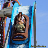 Dené and friends on the water slide