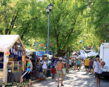 Busy festival thoroughfare
