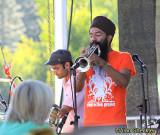 Funky brass ensemble Red Baratt's Rohin Khemani (left) and Sonny Singh