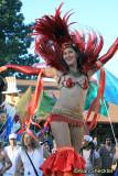 Festival parade - Samba Stilt Circus performer,