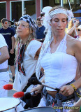 Festival parade - Wolfthump, featuring Shanti Peace (at left)