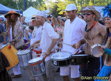 Festival parade - Wolfthump, featuring Mike Wofchuck (white bandanna)