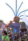 Festival parade, featuring a Third Planet Ceremonial puppet