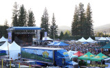 Grandstand meadow and stage