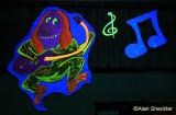 High Sierra Musical Hall - blue-light-lit for late-night show