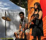 KZFR-FM songwriter winner Lisa Valentine w/James Chato - Oak Grove Stage