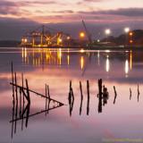 Belview Port At Sunset