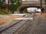 Construction at the Cynwyd Station, June 25-29, 2012