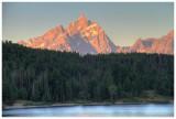 Grand Teton sunrise on Jackson Lake (HDR)