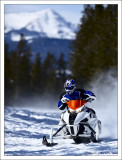 The Arctic Cat F1100 Turbo SnoPro Limited in action