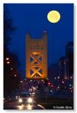 Tower Bridge & moon set