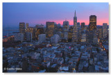 View from inside Coit Tower, Handheld shot through glass!