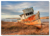 Point Reyes Boat (Inverness, Ca.)  HDR